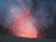 Mt Yasur erupting on New Year's eve