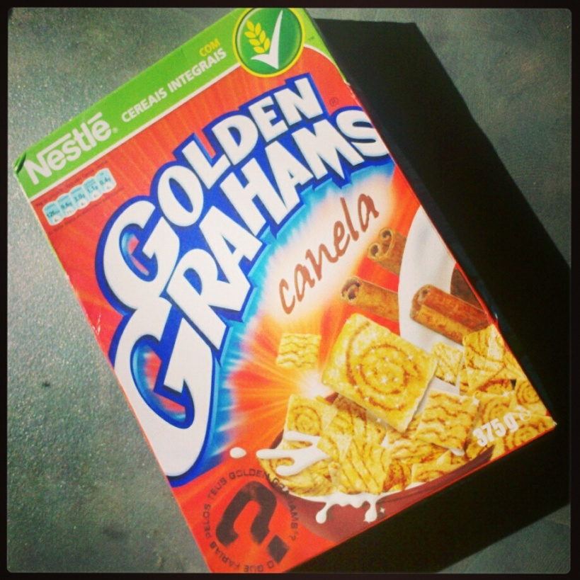 You know how some people save special wines for special occasions? I do that with breakfast cereal. This box of cinnamon-flavoured cereal travelled from Portugal to New Zealand with me last October. I saved it for a celebration. Running a marathon qualified as special enough.