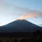 Mount Ngauruhoe in the early morning