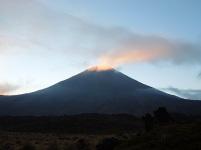 Mount Ngauruhoe in the early morning