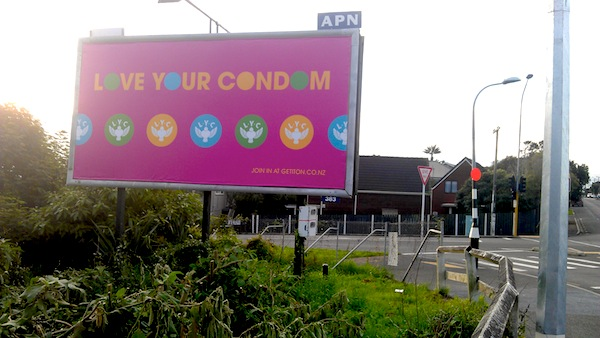 Random running commute scene one. NZ billboards are kind of cool.